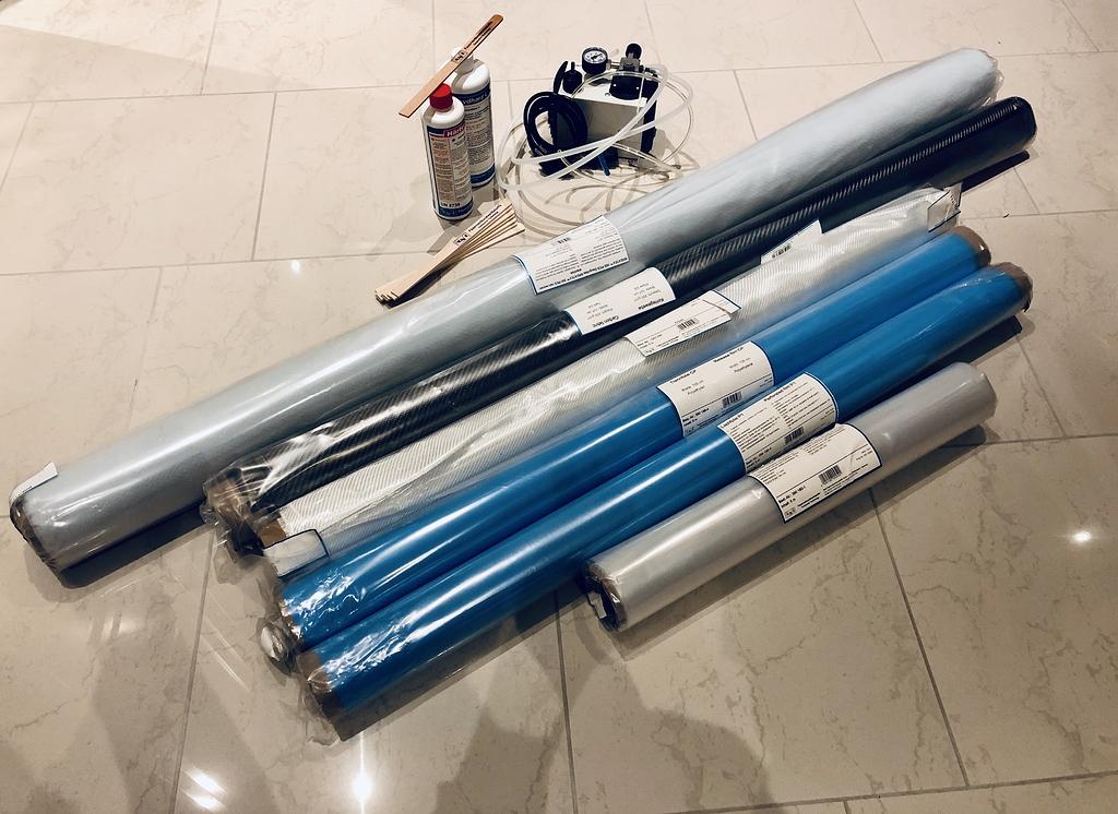 EU/GER DIY Vacuum Bagging Carbon Fiber Starterset - Used ...